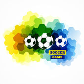 Colorful football design — Vecteur