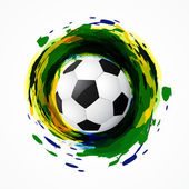 Dirty soccer game — Vector de stock