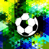 Colorful football design — Vector de stock