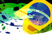 Brazil flag abstract background — Stock Vector