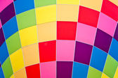 Colors on a fire balloon — Stock Photo