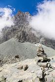 Pfad zeichen des italienischen alpen — Stockfoto