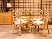 Luxury Wicker Interior — Stock Photo