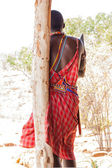 Masai traditional costume — Stock Photo