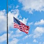 bandera americana mitad personal — Foto de Stock