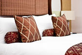 Pillows in Hotel bedroom — Stok fotoğraf