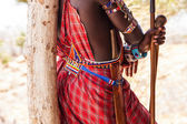 Masai traditional costume — Stock Photo