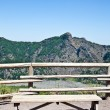 Stock Photo: Bench in front Vesuvius crater