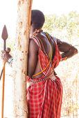 Masai tribal costume — Stock Photo