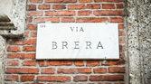Brera street — Stock Photo