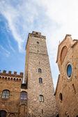 San Gimignano towers — Stock Photo