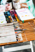 Pouliční umělec nástroje — Stock fotografie