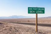 Below sea level — Stock Photo