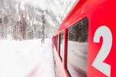 Train in the snow — Stock Photo
