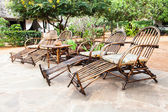 Muebles de jardín — Foto de Stock