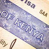 Kenya visa — Stock Photo