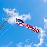 Half staff American flag — Stock Photo #9582598