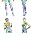 Female Robot Pack - 3of5 — Stock Photo #10238972