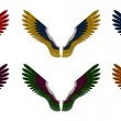 Angel Wings Pack - Assorted Double Colours — Stock Photo