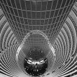 Atrium inside Jin Mao Tower, Shanghai, China — Foto Stock