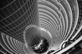 Atrium inside Jin Mao Tower, Shanghai, China — Stock Photo