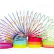Stock Photo: Colorful toy spirals
