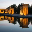 Templo de Debod at sunset, Madrid — Stock Photo