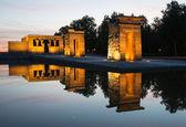 Templo de Debod at sunset, Madrid — Stock Photo