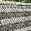 Small Buddhist Jizo statues — Stock Photo