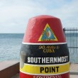 Stock Photo: USSouthernmost Point Monument and Key West Tourist Attraction