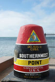 USA Southernmost Point Monument and Key West Tourist Attraction — Stock Photo