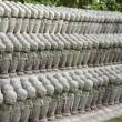 Small Buddhist Jizo statues — Stock Photo