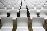 White auditorium seats — Stock Photo