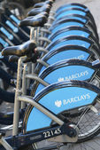 Barclays Cycle Hire, London — Zdjęcie stockowe