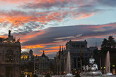 Madrid at dusk — Stock Photo