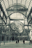 Palacio de Cristal, Parque del Buen Retiro, Madrid — Stock Photo
