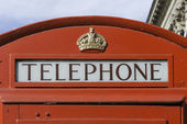 Red telephone booth, London — Stock Photo