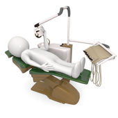 3d man in dentist chair — Stock Photo