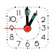 Clock showing 1 o'clock. — Stockfoto
