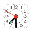 Clock showing half past 7 — Stock Photo