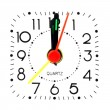 Clock at midnight — Stock Photo