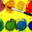 Well used set of watercolors — Stock Photo