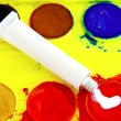 Opaque white tube — Stock Photo
