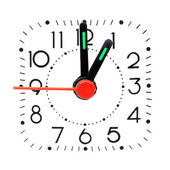 Clock showing 1 o'clock. — Stock Photo