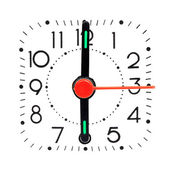 Clock showing 6 o'clock — Stock Photo