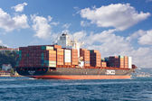 Container Ship ZIM DALIAN — Stock Photo
