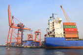Container Port — Stock Photo