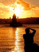 Photographer silhouette — Stock Photo