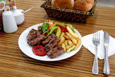 Meatball plate — Stock Photo