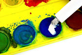 Used watercolors — Stock Photo